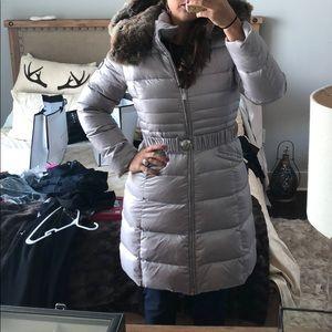 Dawn Levy Fur Trim Down Coat
